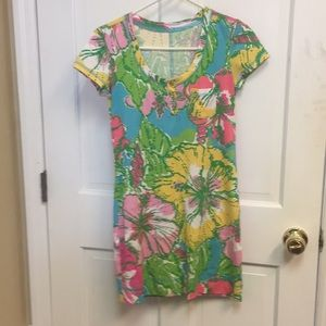 Lilly dress. Hardly worn. Hibiscus print